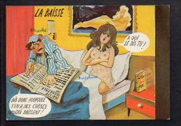 Illustrateur Dessin - ( ? ) à Identifier / Couple,humour :  La Baisse - Sin Clasificación