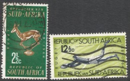South Africa. 1964 75th Anniv Of South African Rugby Board. Used Complete Set. SG 252-253 - South Africa (1961-...)