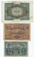 Lot De 3 Billets D' Allemagne  (2 Scans ) - Germania