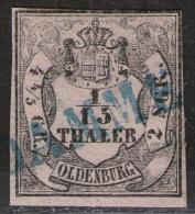 Einzeiler DAMME Auf 1/15 Thaler Mattrosa - Oldenburg Nr. 3 I - Pracht - Oldenburg