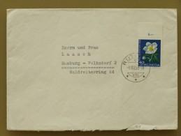 SUISSE / SCHWEIZ / SWITZERLAND // Lettre - Brief, 1958, 40Rp. PRO JUVENTUTE (Rose De Noël / Christrose) => DEUTSCHLAND - Pro Juventute