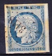 FRANCE CERES 1850 YT N° 4 Obl. LOSANGE PC 3118 CHARENTES - 1849-1850 Cérès