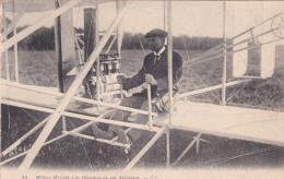 CPA Wilbur WRIGHT à La Direction De Son Aéroplane Aviateur Aviation Avion Fly - Aviatori