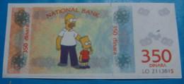 SERBIA 350 DINARA ND 2000 NATIONAL BANK LOTTERY. RARE UNC. - Serbia
