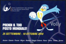 PALLAVOLO - ITALIA 2010 - FIVB MEN´S VOLLEYBALL WORLD CHAMPIONSHIP - PROMOCARD FOR TICKETS OF CHAMPIONSHIP - Volleyball