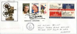 Acteur & Philanthropiste PAUL NEWMAN, Lettre De Sa Ville De Naissance (Cleveland), Adressée En ANDORRE - Acteurs