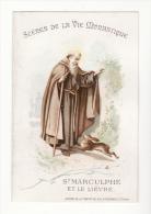 Chromo  AIGUEBELLE   Scènes De La Vie Monastique   Saint Marculphe - Aiguebelle