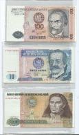 Lot 3 Billets  Du Pérou  (2 Scans) - Pérou
