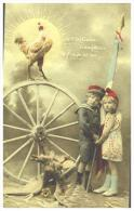 CPA MILITARIA , Fantaisie , Le Coq Gaulois Triomphera De L'aigle Infäme - Humoristiques