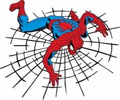 Spider-Man Superhero Cartoon Sticker 13x10 Cm. Aprox. - Stickers
