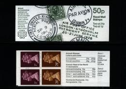 GREAT BRITAIN - 50p. BOOKLET  POSTAL HISTORY  1   MINT NH  SG FB64