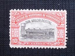Sin Valor Postal-- Colegio De Huérfanos De Ferroviarios --10 Cts  --ESPAÑA - Beneficenza