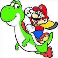 Super Mario Cartoon Sticker 13x13 Cm. Aprox. - Otros