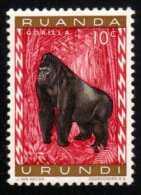RUANDA-URUNDI - Scott #137 Gorilla Gorilla (*) / Mint H Stamp - 1948-61: Mint/hinged