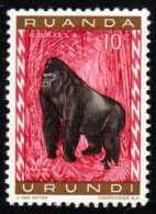 RUANDA-URUNDI - Scott #137 Gorilla Gorilla (*) / Mint NH Stamp - 1948-61: Mint/hinged