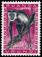 RUANDA-URUNDI - Scott #139 Colobus Sp. (*) / Mint NH Stamp - Ruanda-Urundi