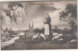 Oostacker Lourdes, Aan Hare Voeten Heb Ik Voor U Gebeden, Maria Met Schapen, Marie Avec Moutons, Sheep (pk28564) - Gent