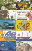 ¡¡OFERTA!! LOTE DE 60 TARJETAS DIFERENTES DE DIVERSOS PAISES: SUDAFRICA-SINGAPORE-ESPAÑA-OMAN, ETC - Colecciones