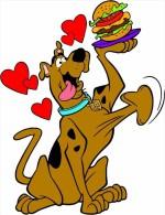 Scooby-Doo Cartoon Sticker 13x10 Cm. Aprox. - Stickers