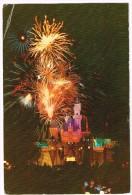 O794 Disneyland - Fireworks - Night Nuit Nacht Notte Noche Notturno - Walt Disney / Viaggiata 1986 - Disneyland