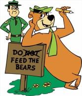 Yogi Bear Cartoon Sticker Decal 13x13 Cm. Aprox. - Stickers