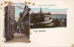 Litho QUEBEC (Kanada) - Laval University And Ramparts, Um 1900, Ecke Bestossen Siehe Scan - Ohne Zuordnung