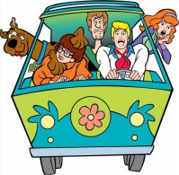 Scooby-Doo MiniVan Cartoon Sticker 13x10 Cm. Aprox. - Stickers