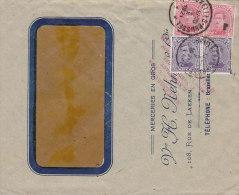BELGIEN  2x 117 I, 2x 119 I/II Auf Auslandsbrief  Mit Stempel: Brüssel 4.X.1921 - Belgien
