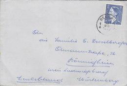 BELGIEN  951 EF Auf Auslandsbrief  Mit Stempel: Deurne 6.IV.1953 - Belgien