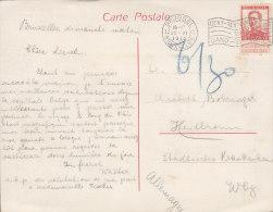 BELGIEN 100 I EF Auf Auslands-Ansichtskarte: Brüssel Börse, Mit Stempel: Brüssel 22.VI.1913, Nachporto - Poststempel