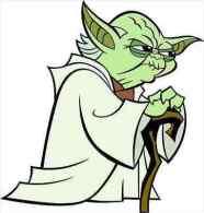 Yoda Star Wars Cartoon 13x13 Cm. Aprox. - Pasatiempos Creativos