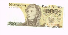 500 Zloty - Tadeusz Kosciuszko - Pologne - Poland - Zonder Classificatie