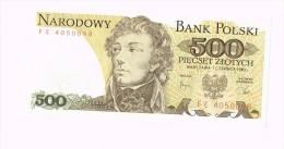 500 Zloty - Tadeusz Kosciuszko - Pologne - Poland - Non Classificati