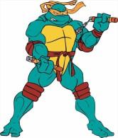 Teenage Mutant Ninja Turtles Cartoon Sticker 13x10 Cm. Aprox. - Pasatiempos Creativos
