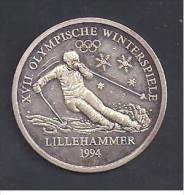 Médaille En Argent  - XVII Olympische Winterspiele  LILLEHAMMER  1994 - Non Classés