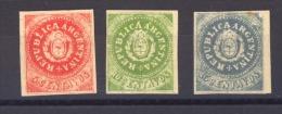 03402  -   Argentine :  Yv  5 -7   *  Reprint - Nuovi