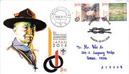23 World Scout Jamboree 2015 FDC Postally Used Sent To China