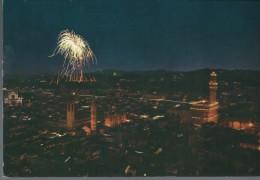 FIRENZE - PANORAMA - FUOCHI  ARTIFICIALI - VIAGGIATA - - Firenze