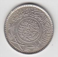 @Y@    Saoedi Arabie   1/2 Riyal 1935  / 1351   Zilver / Argent  (2899) - Arabie Saoudite