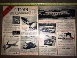 PUB PUBLICITE AUTO CITROEN BERLINE DS ID 19 2 CV 2CV SAHARA USINES ANDRE CITROEN QUAI DE JAVEL PARIS - Vecchi Documenti