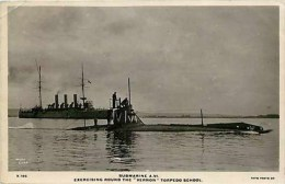 Military, RPPC, Vernon Torpedo School, Submarine A.VI,Exercise Round, Cribb - Submarines