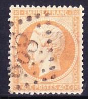 FRANCE NAPOLEON III 1862 YT N° 23 Obl. SIGNE LOSANGE GC 868 CHAMPLITTE - 1862 Napoléon III