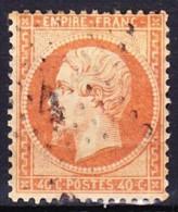 FRANCE NAPOLEON III 1862 YT N° 23 Obl. ETOILE GC 4 PARIS 4 - 1862 Napoléon III