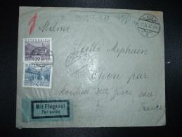 LETTRE PAR AVION Pour La FRANCE TP 40G + 30G OBL.11 IX 30 WIEN 36 + 12 IX 30 WIEN 1 FLUGPOST - Covers & Documents