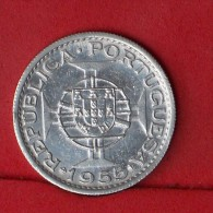 ANGOLA  10  ESCUDOS  1955  5 GRS - 0,720 SILVER KM# 73  -    (Nº13286) - Angola