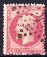 FRANCE NAPOLEON III 1862 YT N° 24 Obl. ETOILE GC 4 PARIS 4 - 1862 Napoleon III