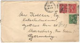 STATI UNITI - UNITED STATES - USA - US - 1925 - 2 X 2c + 1c - Viaggiata Da New York Per Merseburg, Germany - Covers & Documents