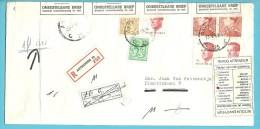 848B+1960+2159+2203 Op Brief Aangetekend Stempel ANTWERPEN, Strookje RETOUR + ONBESTELBARE BRIEF (REBUT) - 1981-1990 Velghe