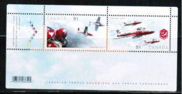 CANADA, 2006, # 2159b, CANADIAN FORCES SNOWBIRDS   MNH - Blocks & Sheetlets