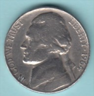 USA - 1961 Circulating 5¢ Coin  (#1964-05-01) - Federal Issues